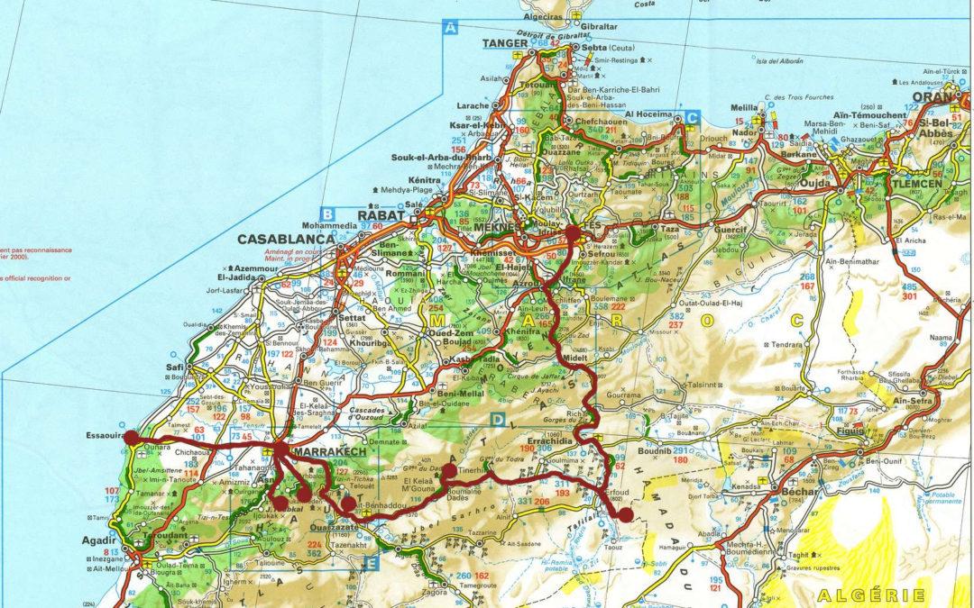 Maroko – náklady a mapa
