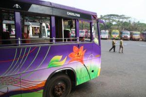 Autobusy ve městě Kannur