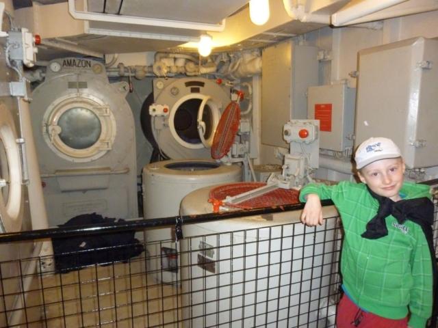 H.M.S. Belfast - prádelna
