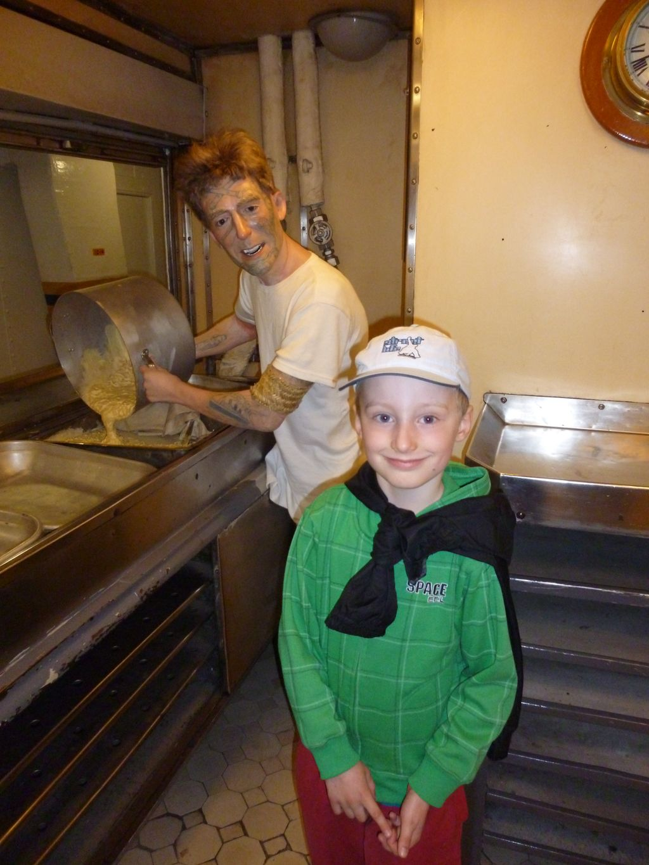H.M.S. Belfast - kuchyň