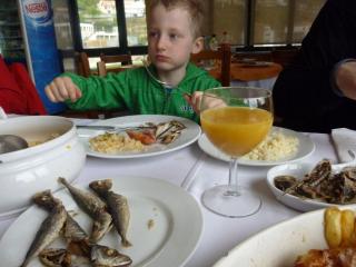 Rio Douro - obědové menu v místní restauraci
