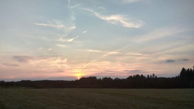 Poslední okamžiky před západem slunce