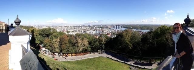 Výhled na Kiev