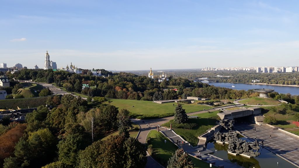 Výhled z pomníku 2.světové války