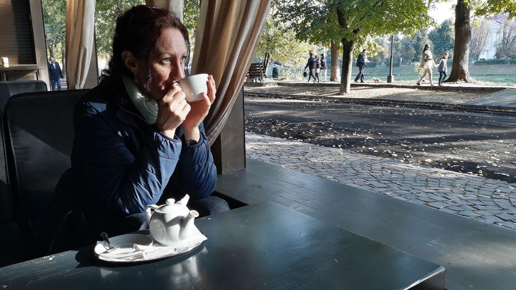 Kavárenská pohoda v Užgorodě