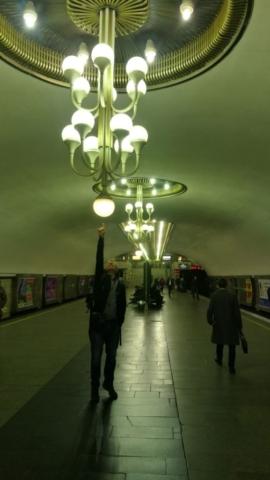 Krásné stanice metra v Kyjevě