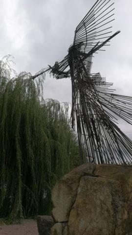 Pomník ve městě Černobyl