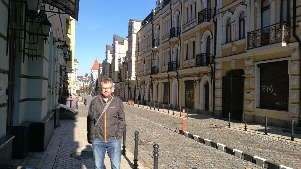 Studené ráno v Kyjevě