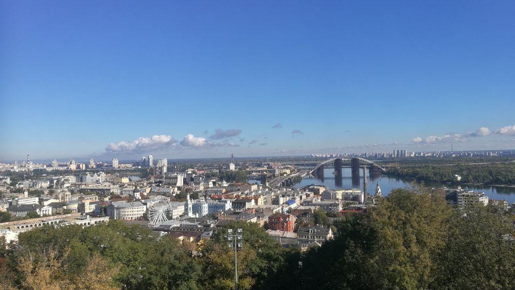 Výhled na Kyjev od sv. Ondřeje