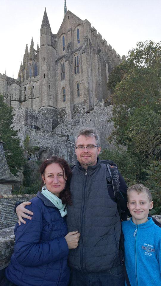 Rodinka v Mont st. Michel