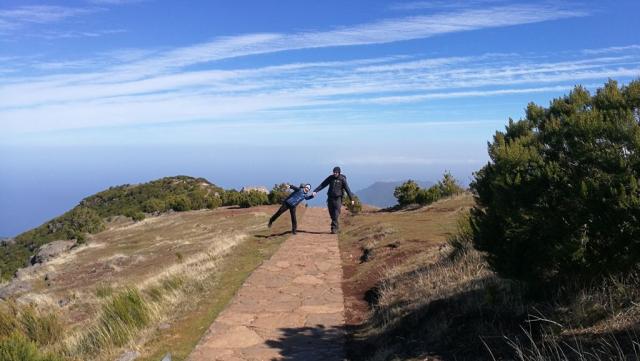 Pico Ruivo, vichřice, lidé