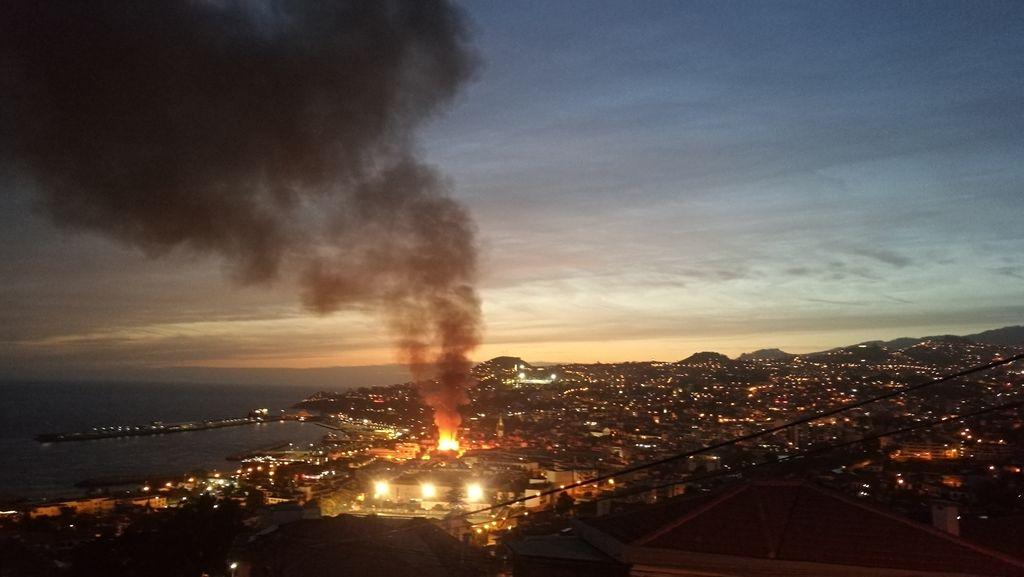 Funchal. Požár.